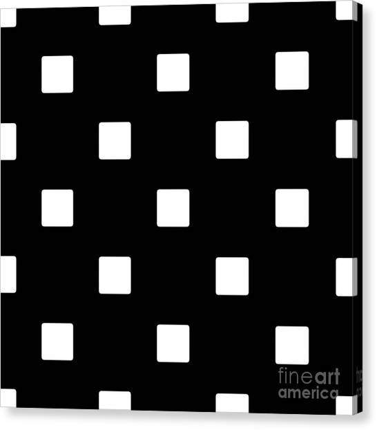 White Squares On A Black Background- Ddh576 Canvas Print