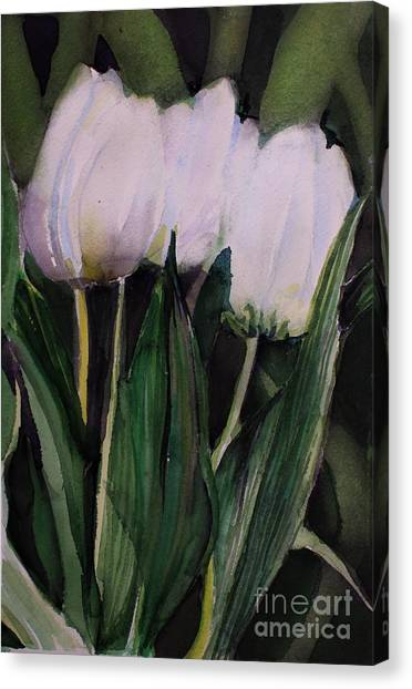 Canvas Print - White Tulips by Mindy Newman