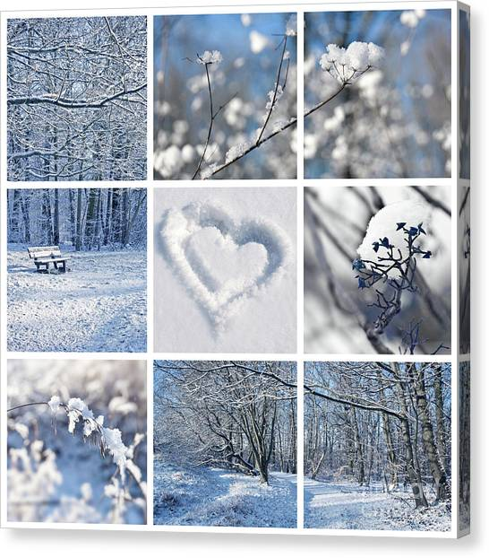 Winter Scenery Canvas Print - White Winter by Delphimages Photo Creations