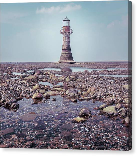 Canvas Print featuring the photograph Whiteford Point Lighthouse by Elliott Coleman
