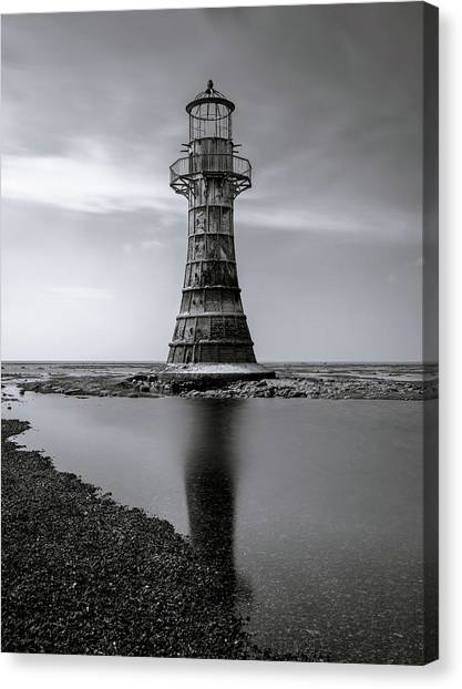 Canvas Print featuring the photograph Whiteford Point Lighthouse Reflections by Elliott Coleman