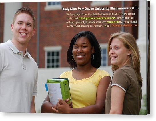 Mba Canvas Print - Why Study Mba From Xavier University Bhubaneswar India by Ronak Singh
