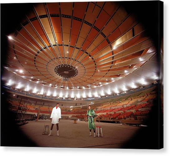 Joe Frazier Canvas Print - Wide Angle Shot Of Interior Of The New by Ralph Morse