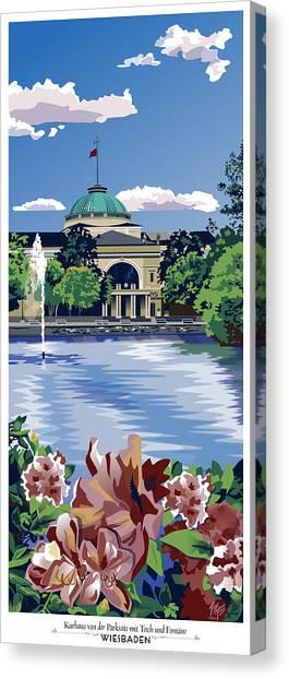 Wiesbaden Kurhaus Canvas Print