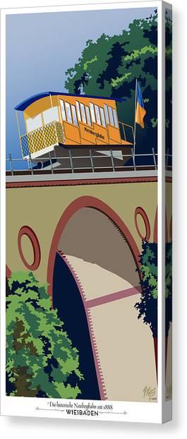 Wiesbaden Nerobergbahn Canvas Print