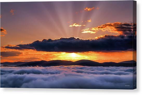 Wilderness Sunrise Canvas Print by Leland D Howard