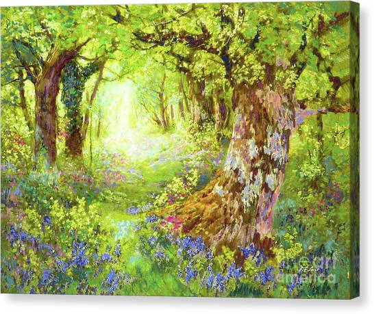 Spring Trees Canvas Print - Wildflower Delight by Jane Small