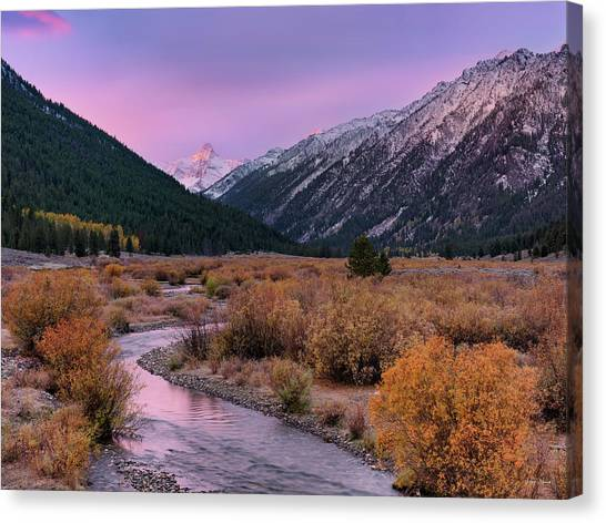 Wildhorse Creek Autumn Sunrise Canvas Print by Leland D Howard