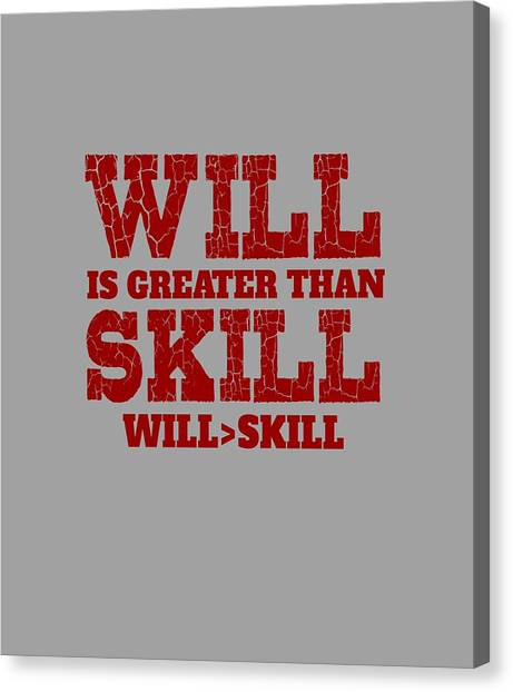 Will Skill Canvas Print