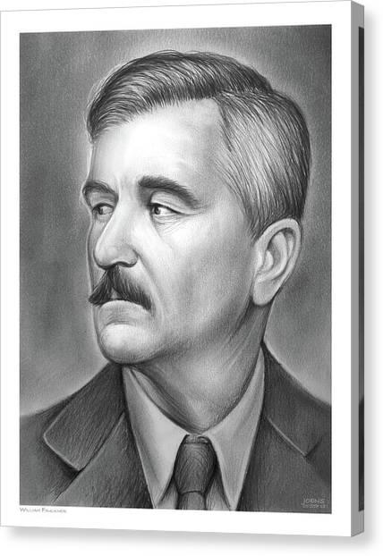 Nobel Canvas Print - William Faulkner by Greg Joens