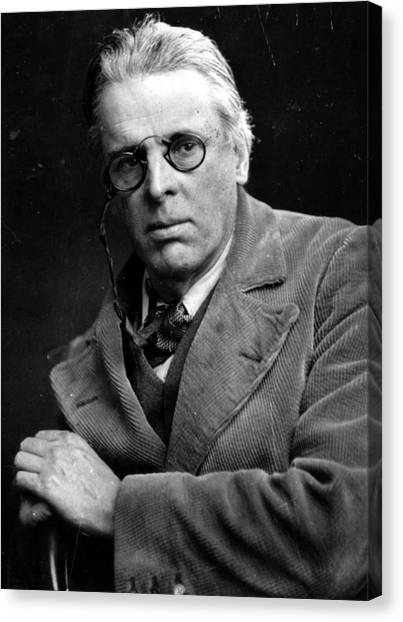 William Yeats Canvas Print by Hulton Archive