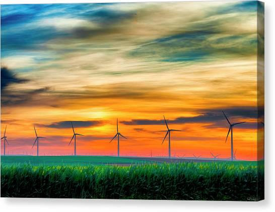 Wind Energy Sunrise Canvas Print