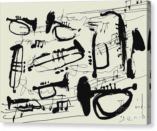 Sheet Canvas Print - Wind Instruments by Dmitriip