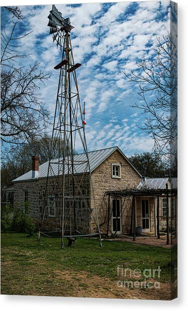 Wind Mill At The Pioneer Museum Canvas Print by Elijah Knight