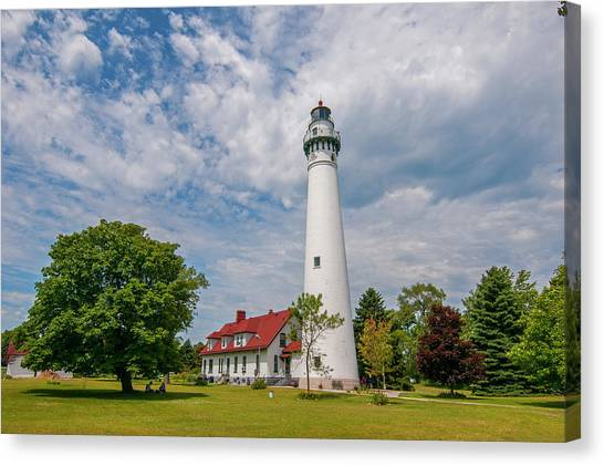 Wind Point Lighthouse No 3 Canvas Print