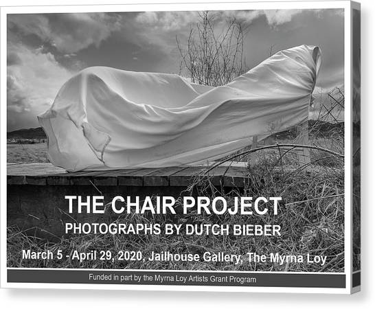 Canvas Print featuring the photograph Wind / The Chair Project by Dutch Bieber