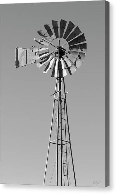 Canvas Print featuring the photograph Windmill IIi Bw by David Gordon