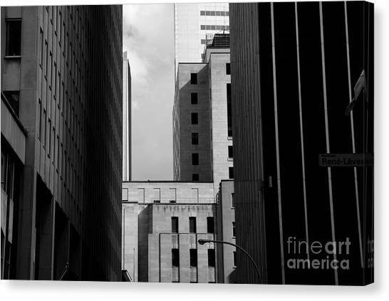Monument Canvas Print - Windows, Montreal, Quebec, Canada by Maxi kore