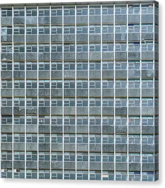 Windows Pattern Modern Architecture Canvas Print
