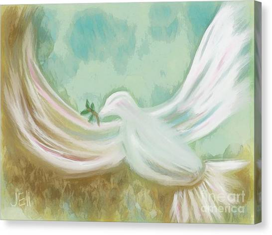 Wings Of Peace Canvas Print