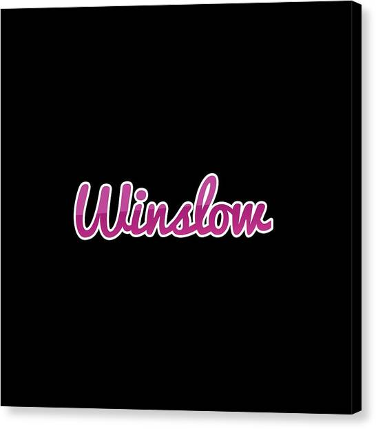 Canvas Print - Winslow #winslow by Tinto Designs