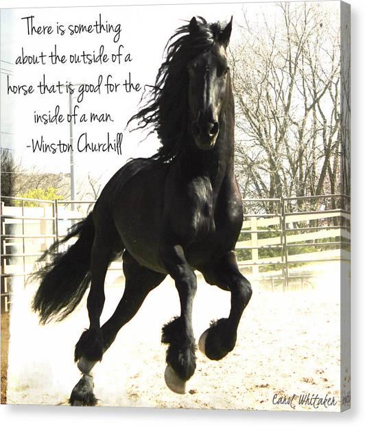 Winston Churchill Horse Quote Canvas Print