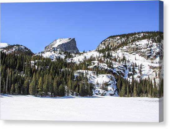 Canvas Print featuring the photograph Winter At Notchtop Mountain by Dawn Richards