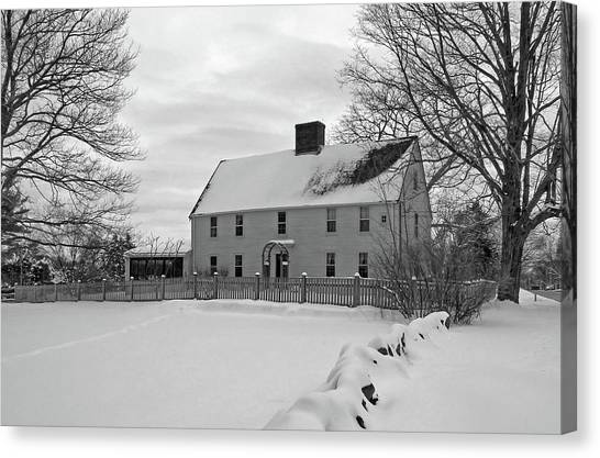 Winter At Noyes House Canvas Print