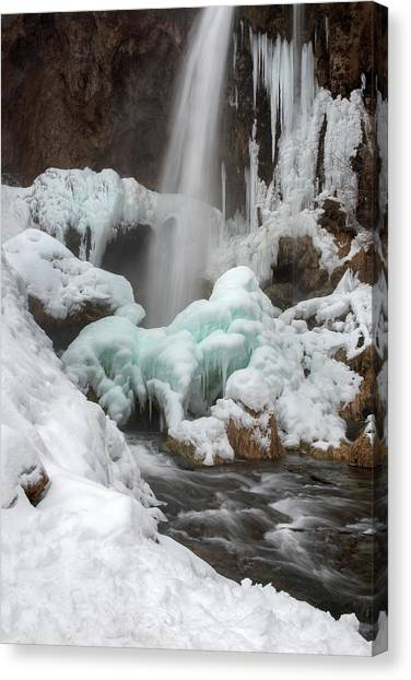 Winter At Rifle Falls Colorado Canvas Print