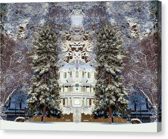 Winter At The Susanville Elks Lodge Canvas Print