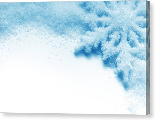 Close-up Canvas Print - Winter Background by Khomulo Anna