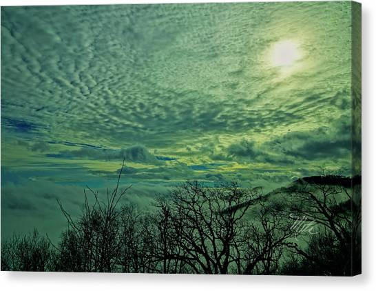 Winter Clouds Canvas Print