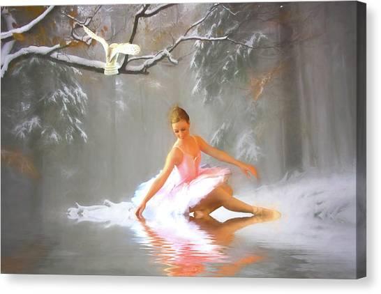 Woodland Canvas Print - Winter Dancer by Sharon Lisa Clarke