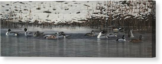 Winter Flock Canvas Print
