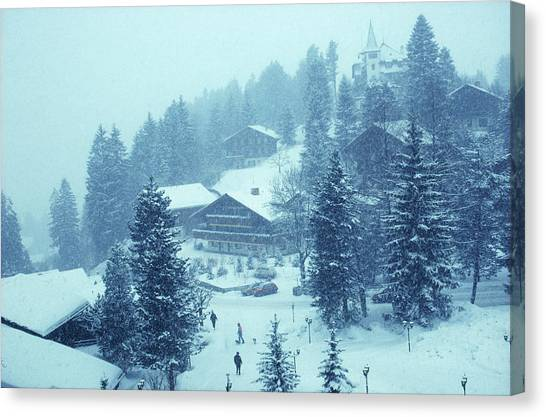 Winter In Gstaad Canvas Print