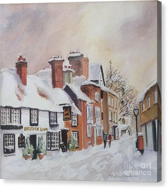 Winter On The Bayle. Folkestone Canvas Print