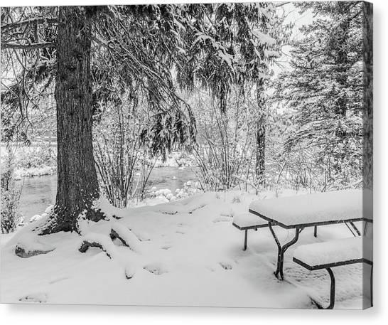 Winter Picnic Canvas Print