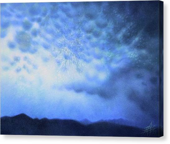 Winter Storm Or Mammatus Clouds Over Black Mountain Canvas Print by Robin Street-Morris