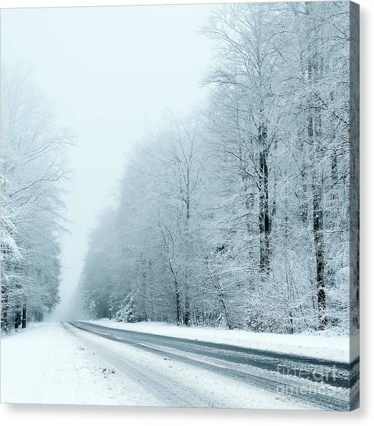 Change Canvas Print - Winter by Trendobjects