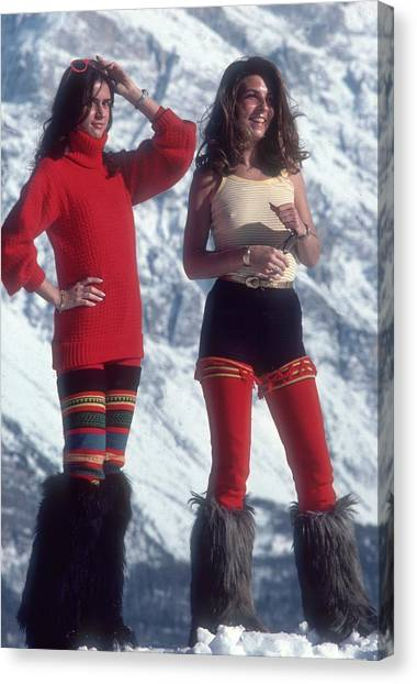 Winter Wear Canvas Print by Slim Aarons