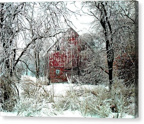 Winter Scenery Canvas Print - Winter Wonderland by Julie Hamilton