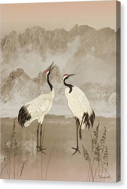 Wintering Manchurian Cranes Canvas Print