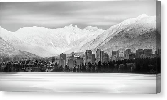 Winterscape Vancouver Canvas Print