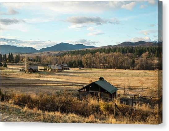 Winthrop Morning Pastures Canvas Print