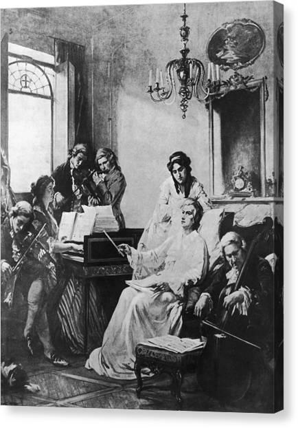 Wolfgang Amadeus Mozart 1756-91 Canvas Print
