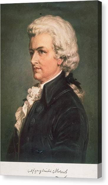 Wolfgang Mozart Canvas Print by Hulton Archive