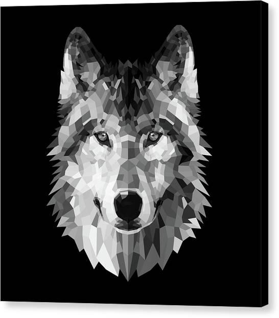 Lynx Canvas Print - Wolf's Face by Naxart Studio