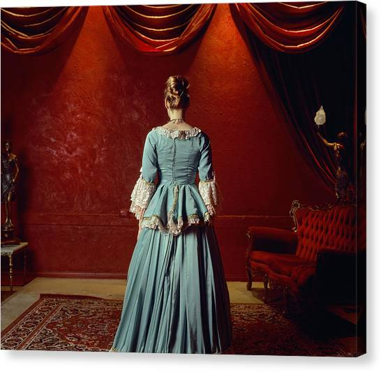 Buns Canvas Print - Woman In Period Costume by Samantha Everton