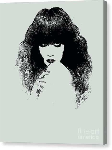 Sensual Canvas Print - Woman Portrait. Fashion Illustration by Anna Ismagilova