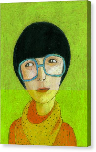 Indoors Canvas Print - Woman Portrait by Jenny Meilihove